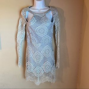 Anthropologie For Love & Lemon Small lace grey